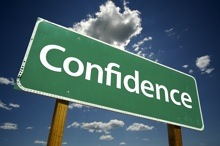 image of a sign saying confidence